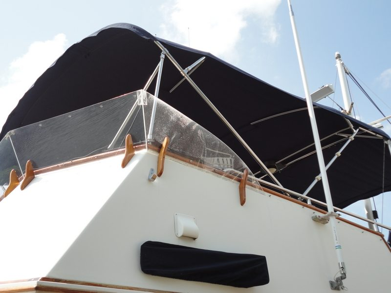 Custom 12 Foot Bimini With New Tubes And 5 Foot Aft Extension