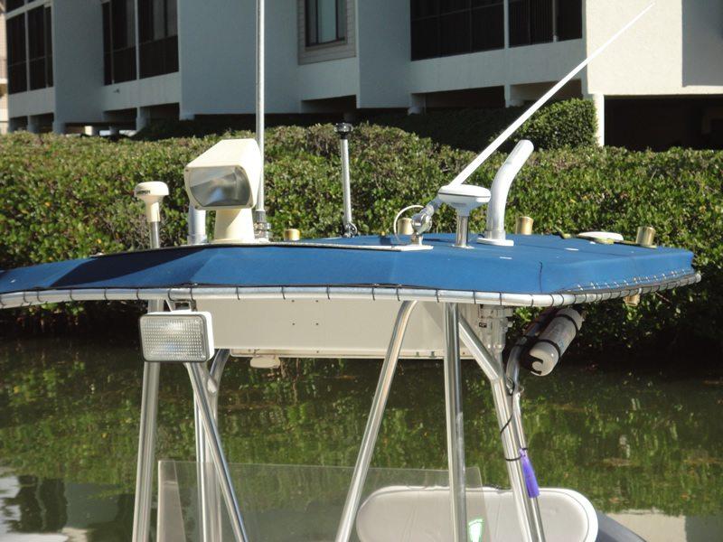 Custom Boat Cover Sun Shade Angle View