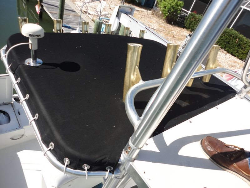 Custom Made T Top Cover For 26 Foot Boat At Anna Maria Island FL
