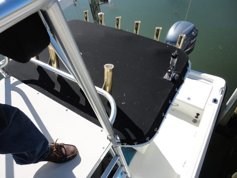 Custom Made T Top Cover For 26 Foot Boat At Anna Maria Island Florida