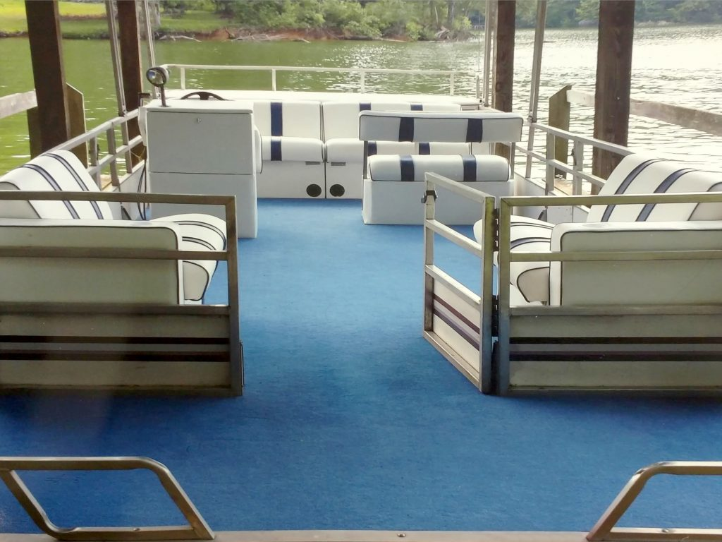 Pontoon Boat Carpet and Upholstery Refit COMPLETE