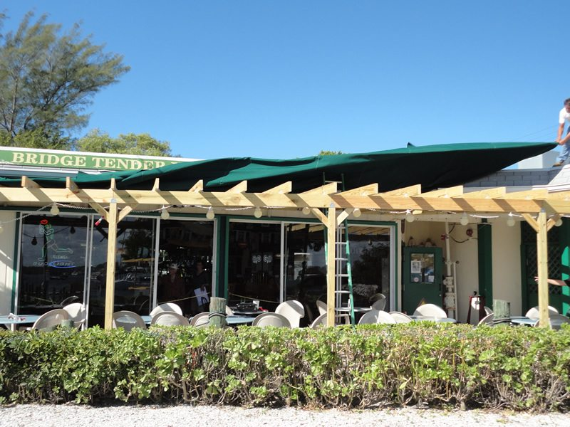 Restaurant Canopy Being Installed 2