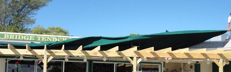 Restaurant Canopy Being Installed