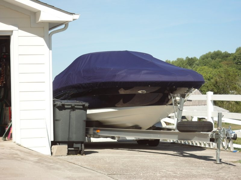 Trailerable Full Sunbrella Cover On 24 Foot Boat