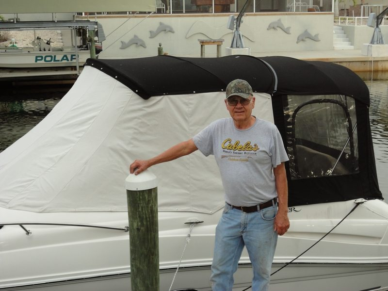 White Sunbrella Windshield Wraparound Curtain In Bradenton FL