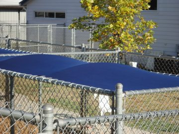 Custom Canvas Kennel Covers